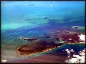 caribbean island aerial photo
