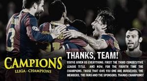 Barcelona FC Champions