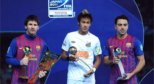 Pemain Terbaik Piala Dunia Antar Klub 2011- Messi, Xavi dan Neymar