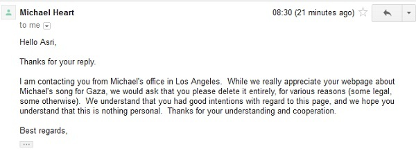 Email Balasan dari Pihak Michael Heart