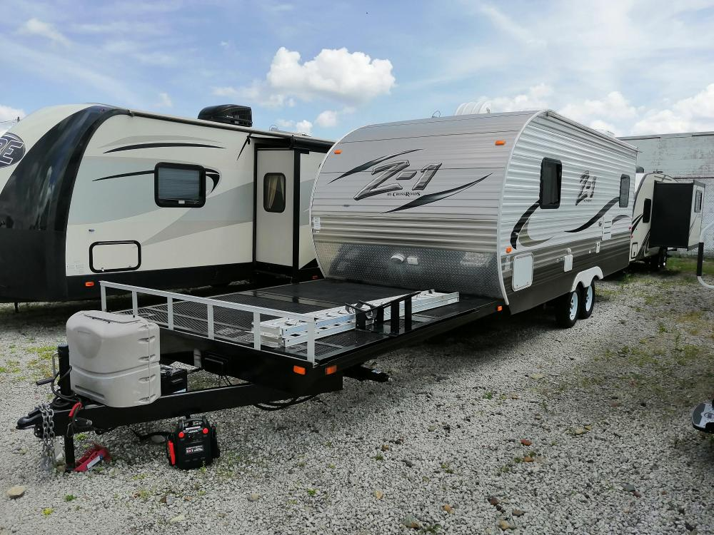 sold used 2015 crossroads z 1 218td front deck toy hauler travel trailer