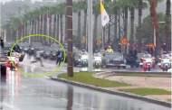 بالفيديو..شاب يقتحم موكب الملك والبابا فرنسيس