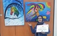 الفنانة التشكيلية خديجة مودن تكشف عن موهبتها وعلاقتها باللون الأزرق ..