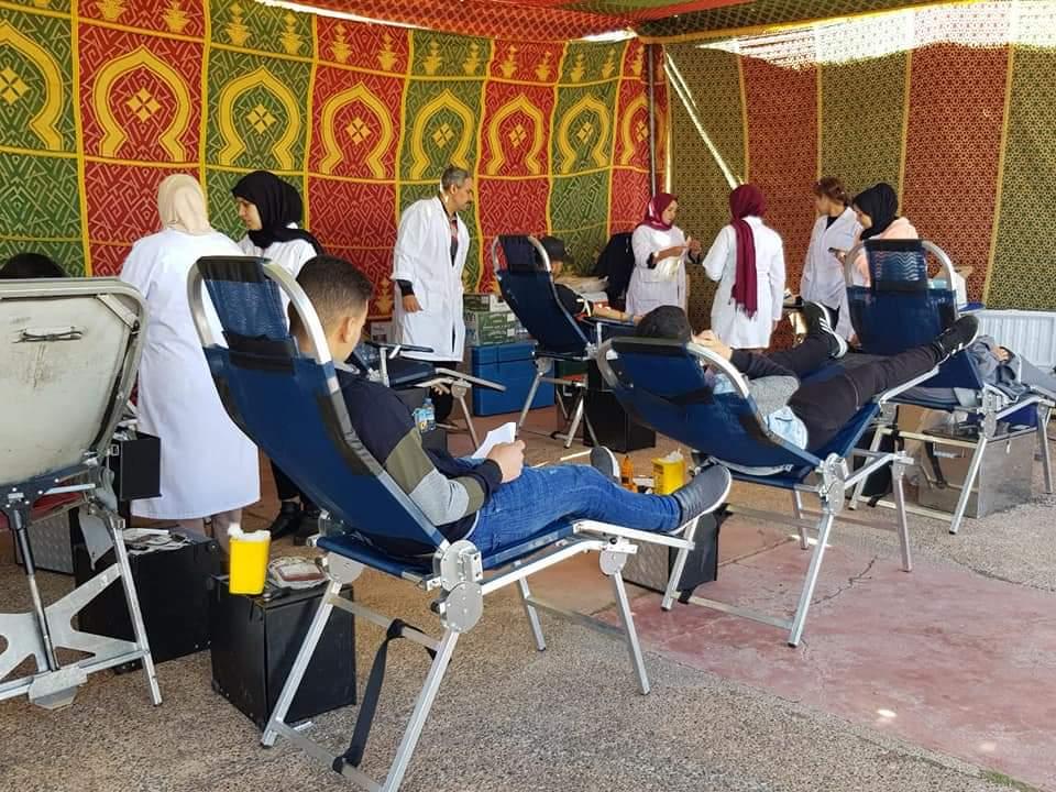أزيد من 160 متبرع في حملة كبرى للتبرع بالدم بحدائق المنارة بمراكش