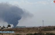 بالفيديو: حريق هائل بمصنع الحديد والصلب بعين حرودة