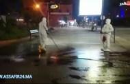 تعقيم شوارع جليز بمراكش