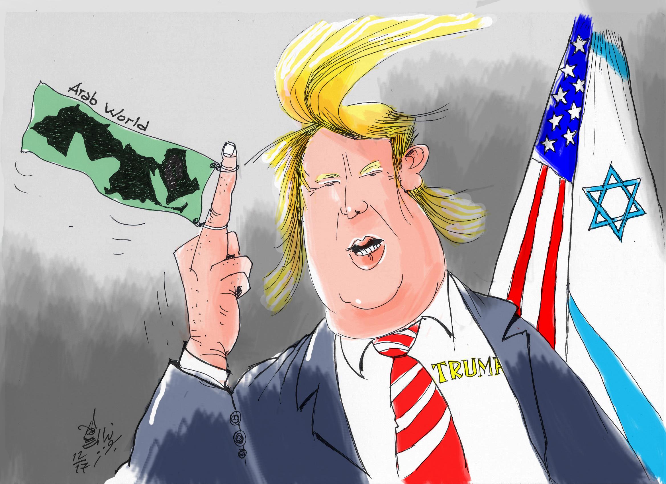 كاريكاتير ترامب والعرب