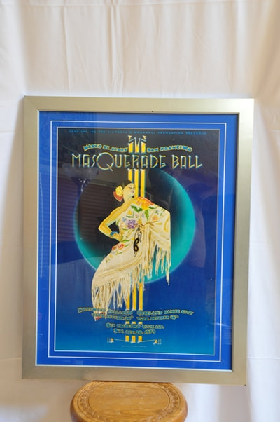 Framed 1979 Margo St James San Francisco Masquerade Ball