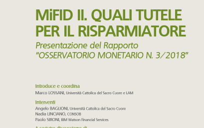 MiFID II. Quali tutele per il risparmiatore