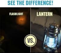 flashlight vs lantern