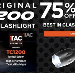 TC1200 Tactical Flashlight Sale