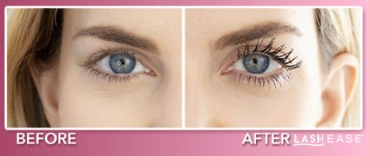lash ease before and after
