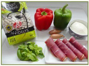 ingredients salade de lingots du nord au jambon cru