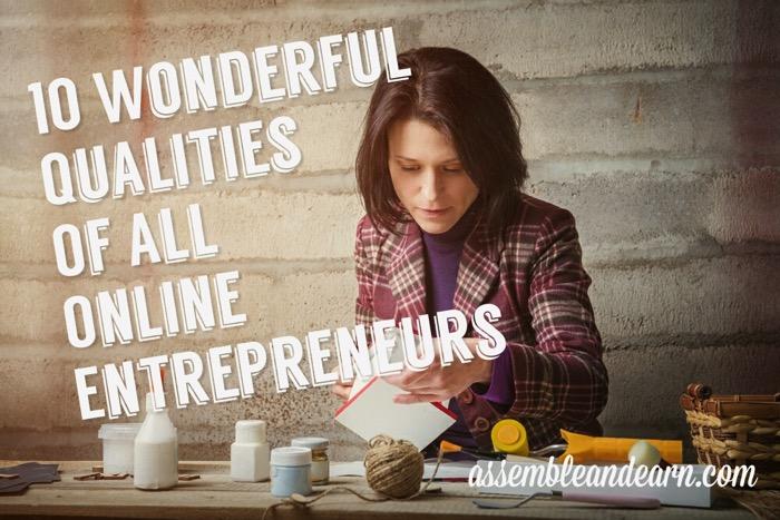 Online qualities entrepreneurs