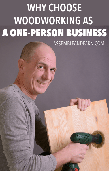 One person woodworking