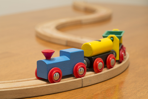 Wood train set