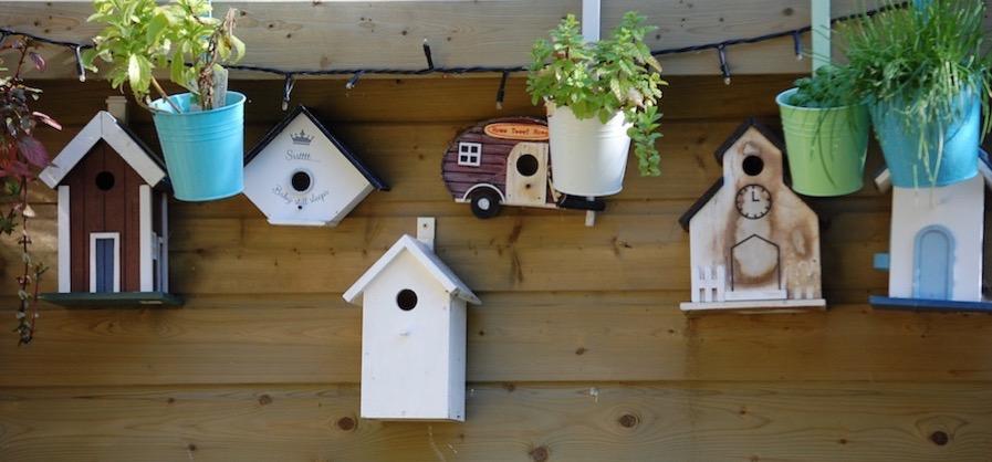 Different shape birdhouses
