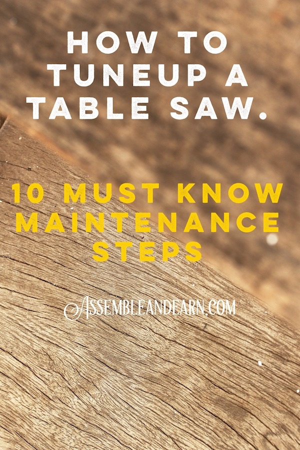 tune and setup a table saw