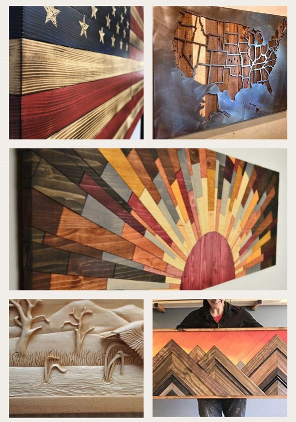 exmaples of woodworking art projects