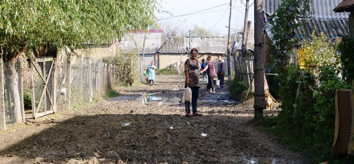Zigeunervrouw Zigeunerkamp Oekraïne