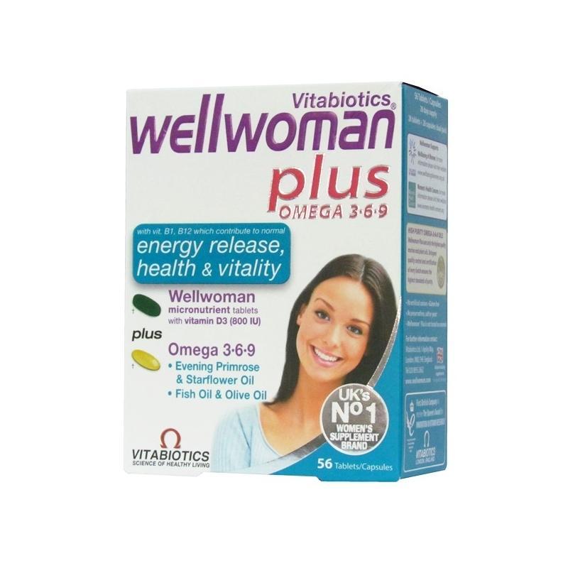 Vitabiotics Wellwoman Plus Omega 3 6 9 Tablets 30 Tablets Asset