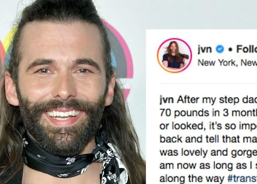 Queer Eye Jonathans before-and-after pic isnt about the before  or the after.