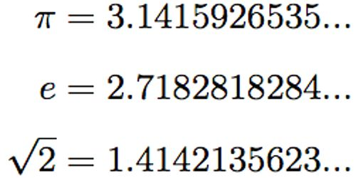 Image result for Irrational numbers