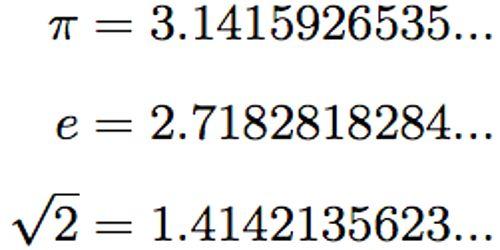 Image result for irrational number