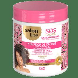 Salon Line S.O.S Cachos Mel Cachos Intensos Ativador de Cachos Pote 500gr