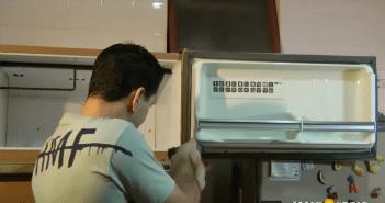 trocar borracha da geladeira