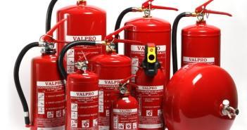 diferentes tipos de extintor de incêndio