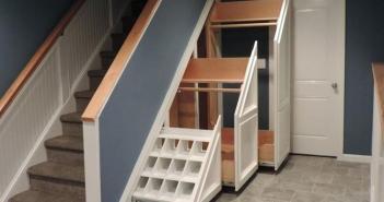 armazenar abaixo escadas