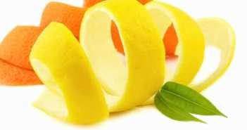 casca de laranja e limao