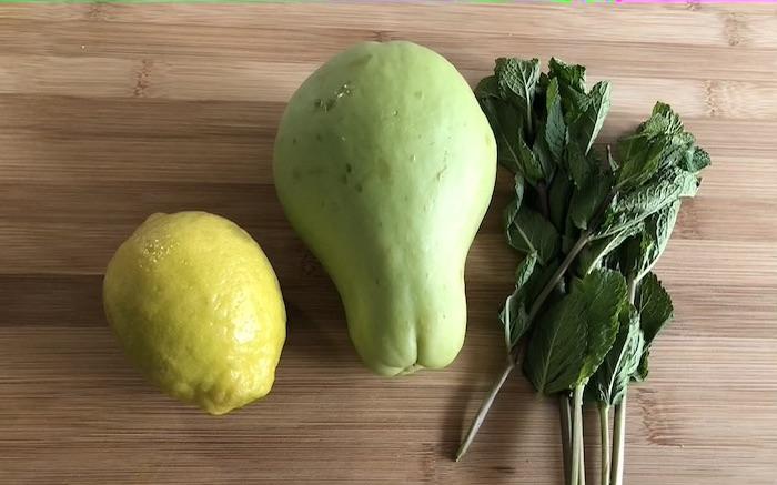 limão xuxu menta