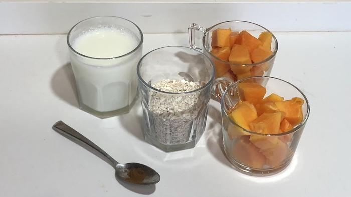 vitamina mamão aveia