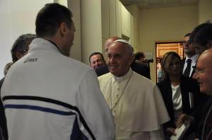 cammarelle con santo padre francesco