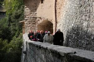 Papa Bergoglio all'Erremo delle Carceri