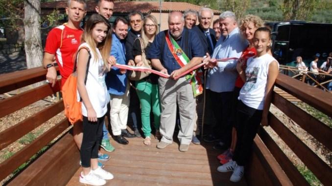 Inaugurato percorso verde sul torrente Tescio