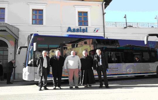 Autobus urbani in servizio da Assisi a Santa Maria