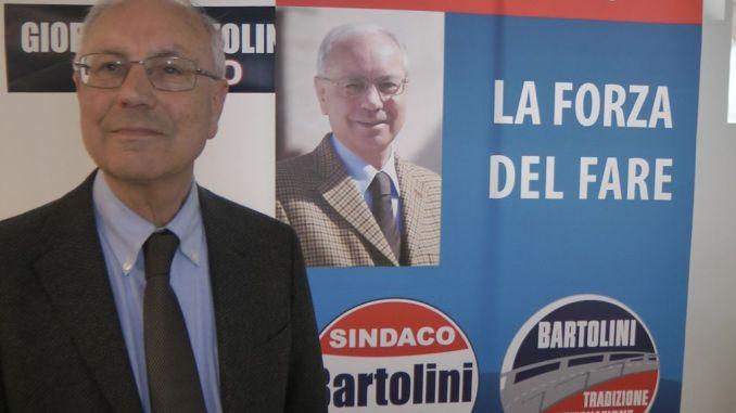 Giorgio Bartolini sindaco sostenuto da Fratelli d'Italia, Forza Italia e Lega