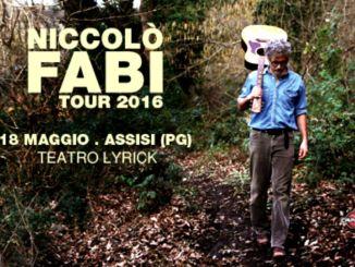 Niccolò Fabi il 18 maggio al Teatro Lyrick