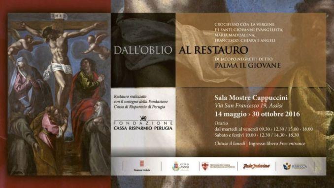 Dipinto di Palma il giovane dopo il restauro, ad Assisi fino a ottobre