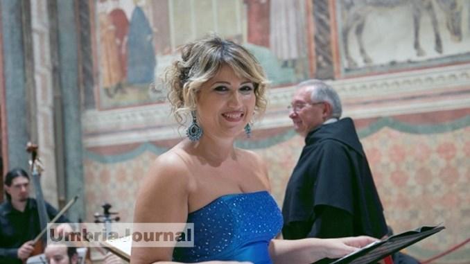 Desirée Rancatore a Note d'In…Chiostro la sua voce in Basilica ad Assisi