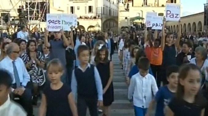Sete di Pace Assisi, bambini messaggeri di pace tra i leader religiosi