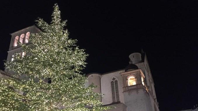 Accesso e benedetto l'albero di Natale con il Presepe dedicato ai terremotati