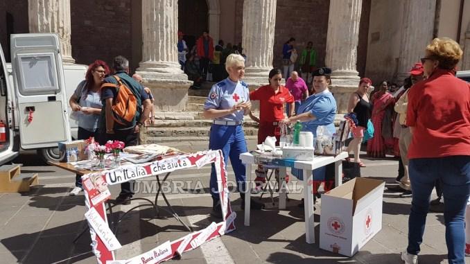 Croce Rossa Italiana, ad Assisi con la campagna Un'Italia che aiuta