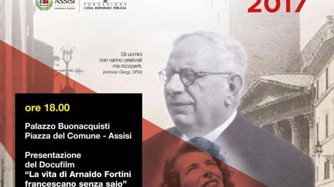 """Proiezione del docufilm """"Arnaldo Fortini Francescano senza saio"""""""