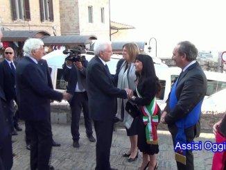 Sergio Mattarella ad Assisi , discorso del sindaco Stefania Proietti