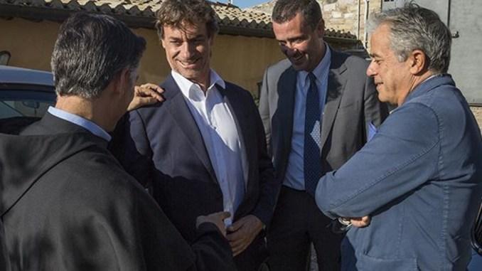 Angelo Teodoli, Direttore di Rai1, ha incontrato i frati di Assisi