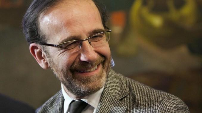 Viceministro Nencini ad Assisi per presentare il suo libro Il Magnifico ribelle. Il Mugello di Giotto